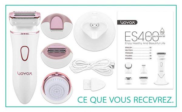 rasoir-electrique-feminin-VOYOR-Waterproof-Rechargeable-ES400